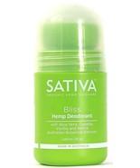 1 Count Organic Hemp Skincare 2 Oz Sativa Bliss Hemp Deodorant With Aloe... - $17.99
