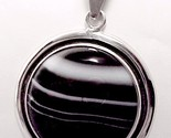 79411a sterling silver sardonyx onyx round necklace pendant charles albert jewelry thumb155 crop