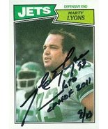 Marty Lyons autographed Football Card (New York Jets) 1987 Topps #137 - $15.00