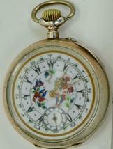 "WOW! One of a kind antique Ottoman silver&enamel ""Ocean"" pocket watch c1... - $1,900.00"