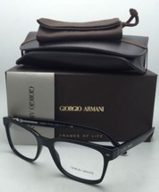 New GIORGIO ARMANI Eyeglasses AR 7090 5017 54-18 145 Black Frames w/ Demo Lenses