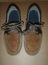 Sperry Top-Sider Brown Canvas Leather 2 Eyelet Boat Shoe Mens 11M  - $37.39
