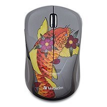 Verbatim Wireless Notebook Multi-Trac Blue LED Mouse, Tattoo Series, Koi... - $473,95 MXN