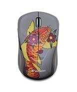 Verbatim Wireless Notebook Multi-Trac Blue LED Mouse, Tattoo Series, Koi... - $473,80 MXN