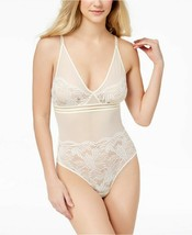 Calvin Klein Perfectly Fit Mesh And Lace Bodysuit QF4587 IVORY Medium - $47.45