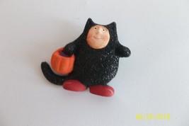 Krinkles Halloween Little Black Cat pin Patience Brewster Dept 56 New - $12.99