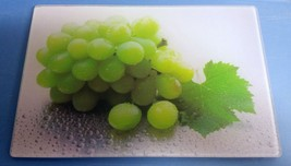 """Cutting Board, Glass, Rectangle, Wet Grapes, 12"""" X 8"""" By Sweet Home - $8.90"""