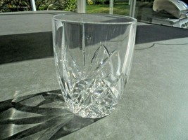 Waterford Brookside Oversized Double Old Fashioned Glass Signed - $9.90
