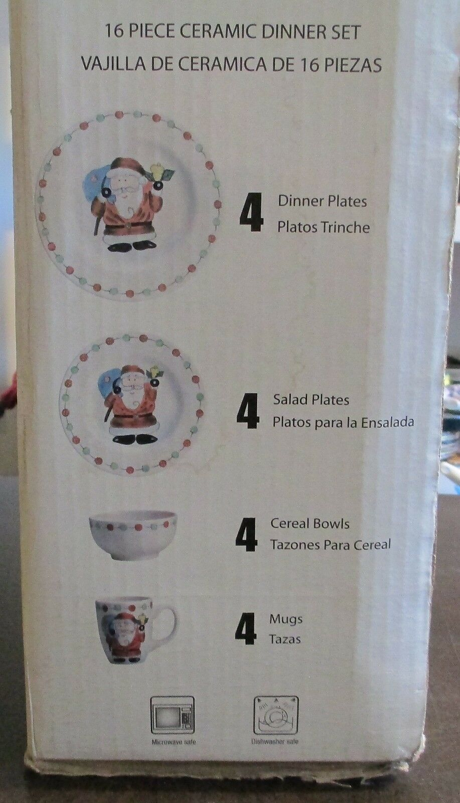 Tabletops Gallery Button Santa Boxed Set of 16 Plates, Bowls and Mugs image 4