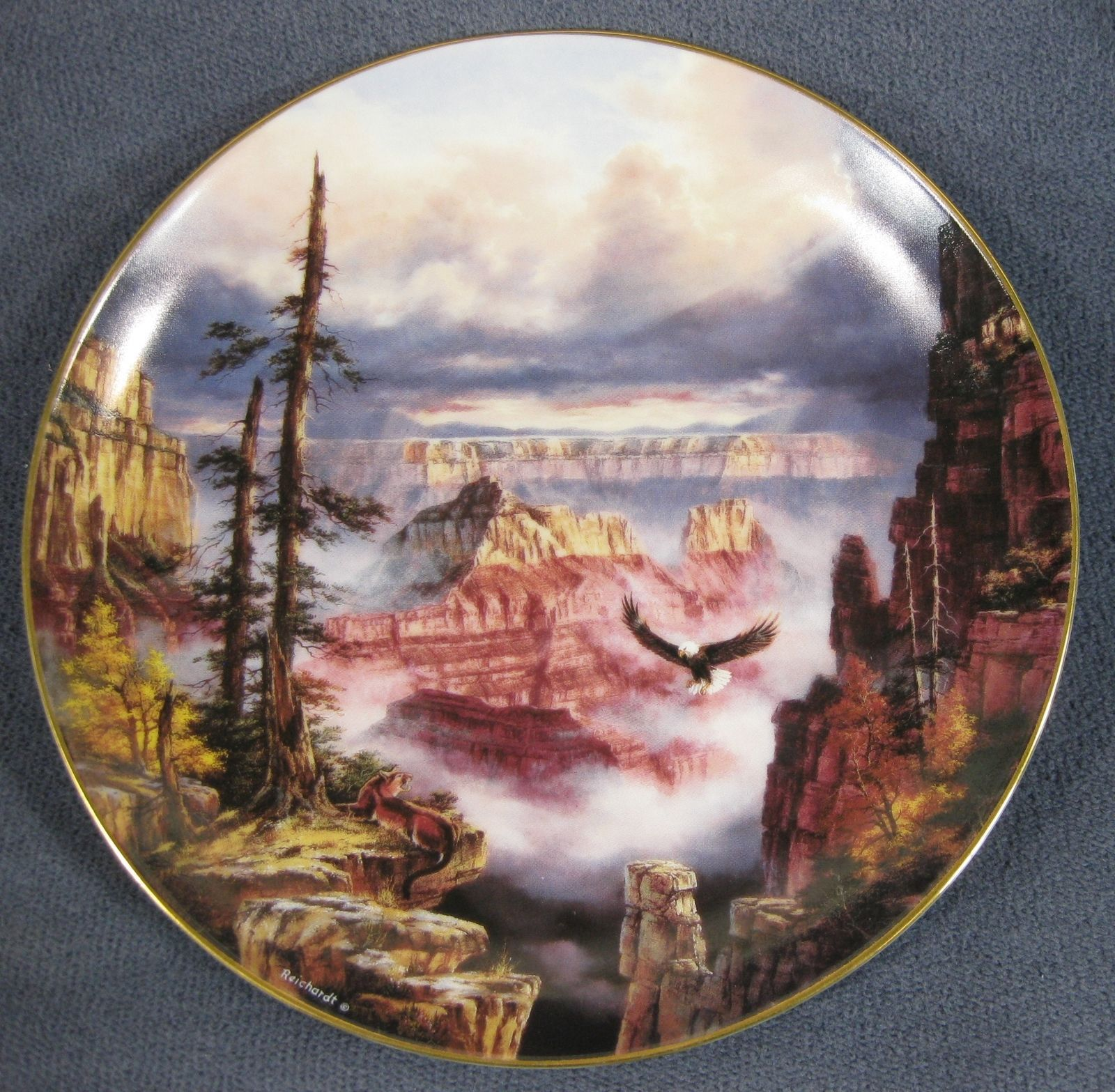 Primary image for Grand Canyon Where Eagles Soar Collector Plate God Bless America Rudy Reichardt