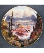 Grand Canyon Where Eagles Soar Collector Plate God Bless America Rudy Re... - $15.95