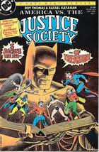 America vs The Justice Society Comic Book #1 DC Comics 1985 NEAR MINT NE... - $14.49