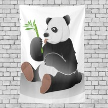 Teen Tapestry Gaint Panda Eating Bamboo Pattern Tapestries Wall Decor 40... - $26.00