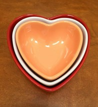 MARTHA STEWART COLLECTION 3 Heart Shaped Nesting Bowls/Dishes - $18.33