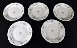 5 Johann Haviland Blue Garland Bread /Butter /Dessert Plates Germany Pla... - $22.22