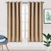 TEKAMON Blackout Curtains for Bedroom Grommet 2 Panels Set Draperies,The... - $26.98