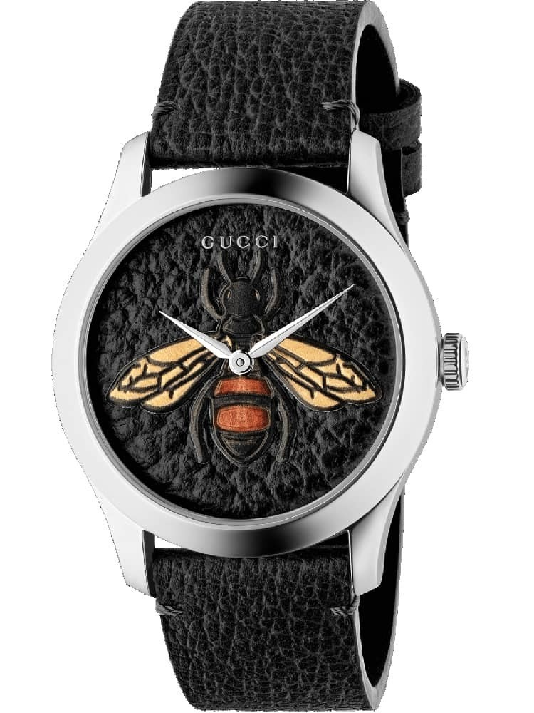 0c4c4bfabfe 24 15 061 gucci mens g timeless black bee watch ya1264067 1