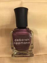 Deborah Lippmann Nail Lacquer Nail Polish in Magnetic Wave Berry Metal! - $7.52