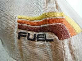 vintage fuel skateboarding surfing unknown snap back hat cap used beige FreeShip - $10.66