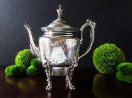 Antique Silver Plate Teapot Figural Lion Head A... - $125.00