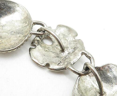 925 Sterling Silver - Vintage Starfish Seashell Charmed Chain Bracelet - B4587