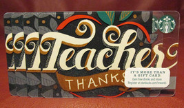 Lot of 6 Starbucks 2014 Teacher Thanks Gift Cards New with Tags - $36.70