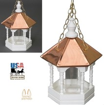 """22"""" Copper Top Bird Feeder - Hanging Gazebo With Spindles Amish Handmade In Usa - $168.27"""