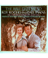 Vinyl Album Roy Rogers and Dale Evans The Bible Tells me So Capitol T-1745 - $6.73