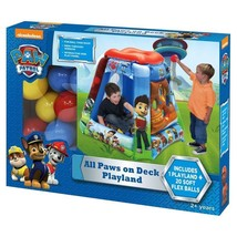 Small Kids Inflatable Bouncers Tent Like All Paws on Deck 20 Balls Inclu... - £46.58 GBP