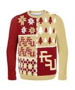 NCAA Klew Florida State Seminoles Busy Block Colorful Ugly Sweater - $34.95