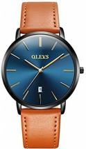 Luxury Olves fashion Men s watch Ultra Thin  Waterproof leather brand Quartz - $40.45