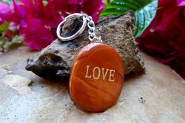 Fairness & Justice Keychain: Red Jasper Stone Jewelry Meditation Reiki P... - $9.53