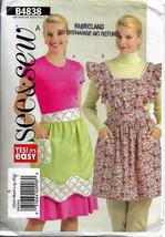 See & Sew B4838, Aprons Sewing Pattern, Size Sml-XLge Two 2 Styles, Bib ... - $11.00