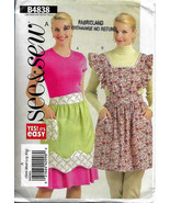 See & Sew B4838, Aprons Sewing Pattern, Size Sml-XLge Two 2 Styles, Bib ... - $11.00