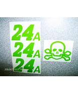 "JEFF GORDON""SKULL &CROSSBONE""24A""GREEN-TEST-DECALS1/24 SCALE PEEL & STIC... - $3.00"