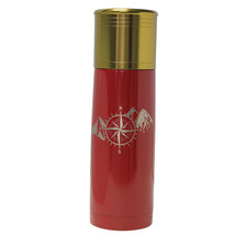 Compass Mountain Design-Engraved 25 oz Red Bullet Double Wall Insulated ... - $34.25