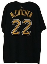 Pittsburgh Pirates Andrew McCutchen #22 Mens XL Black T-Shirt MLB Majestic - $12.99