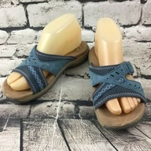 Earth Origins Women's Sz 6.5M Sandals Baylee Blue Leather Casual Summer ... - $19.79
