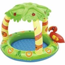 Inflatable Baby Padding Swimming Pool Jungle Theme UV Careful Friendly C... - $30.03