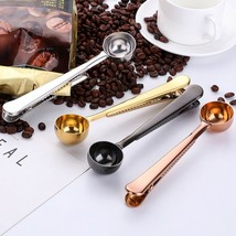 Coffee Measuring Scoop With Bag Clip Stainless Steel Coffee Spoon Rose G... - $12.90