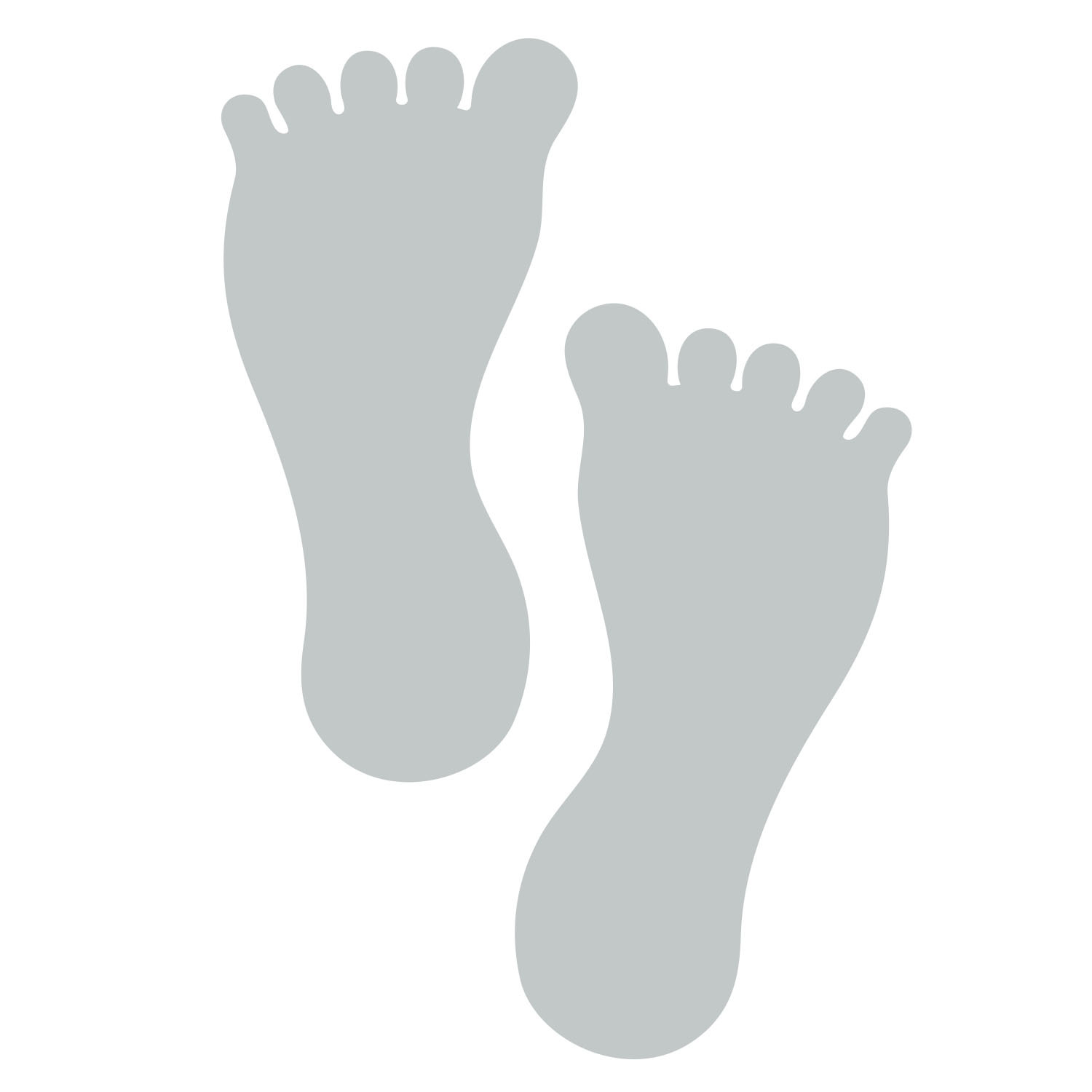 Primary image for LiteMark 7 Inch Grey Barefoot Decals for Floors and Walls 12 Pack