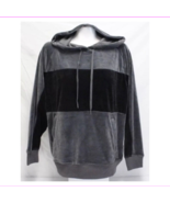 CHAMPION Women's Velour Long Sleeve Front hand pocket Hoodie L/Charcoal/... - $29.99