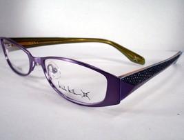 NICOLE MILLER Eyeglass Demure Purple Fig Women New 51-16-140 Plastic Stainless - $59.39