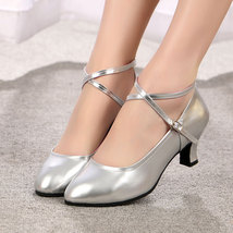 women dancing shoes in candy color,3.5 cm heel,size 3-9.5,silver - $48.80