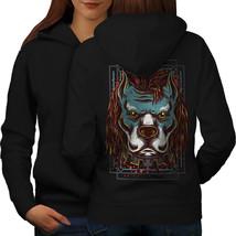 Angry Cool Bulldog Dog Sweatshirt Hoody  Women Hoodie Back - $21.99+