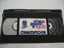 Kansas City Royals MLB 1985 World Series VHS tape logo Throwback T Shirt L - $12.86