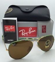 New RAY-BAN Sunglasses AVIATOR FULL COLOR RB 3025-J-M 169 Green Camouflage/Brown