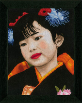 Cross stitch Lanarte PN-0021214 Japanese Girl. Size 28/38 cm. - $48.00