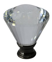 "Urbanest Crystal Diana Lamp Finial, 2"" Tall image 3"
