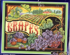Janlynn Grapes Raisons Fields Vine Winery Wine Vineyard Needlepoint Kit 023 0322 - $62.95